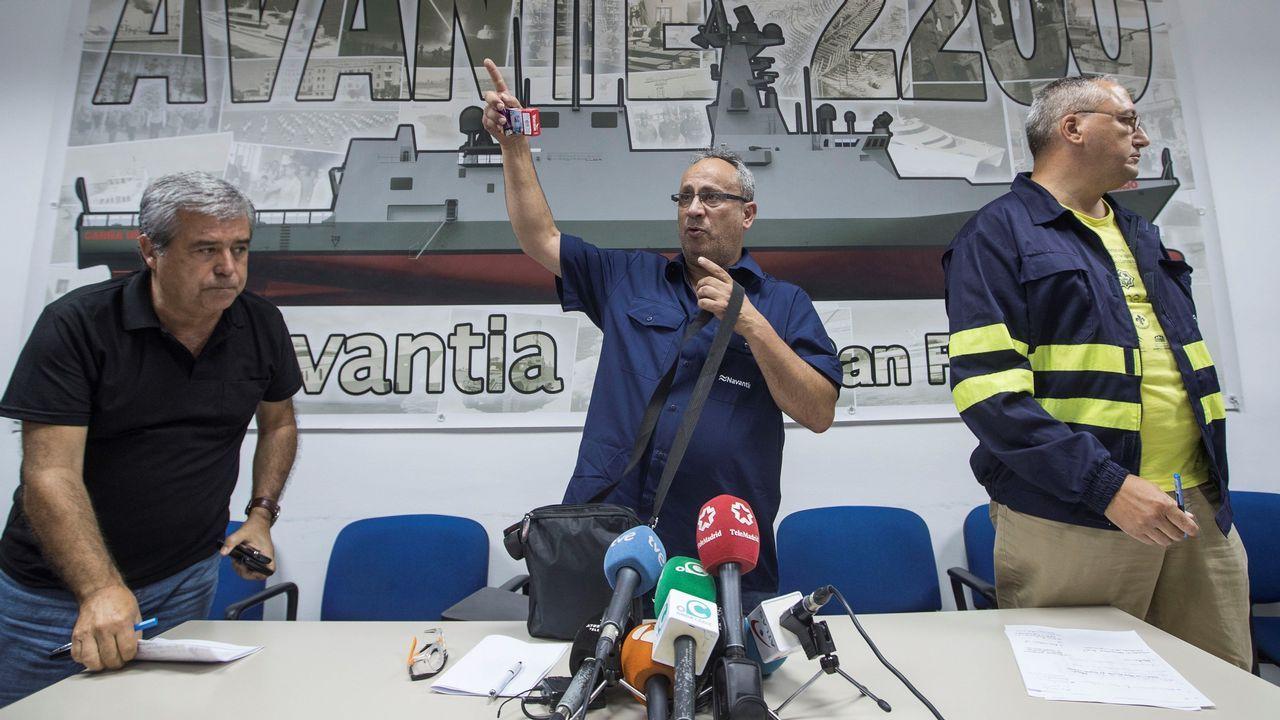El presidente del comité de empresa del astillero de Navantia San Fernando, Jesús Peralta