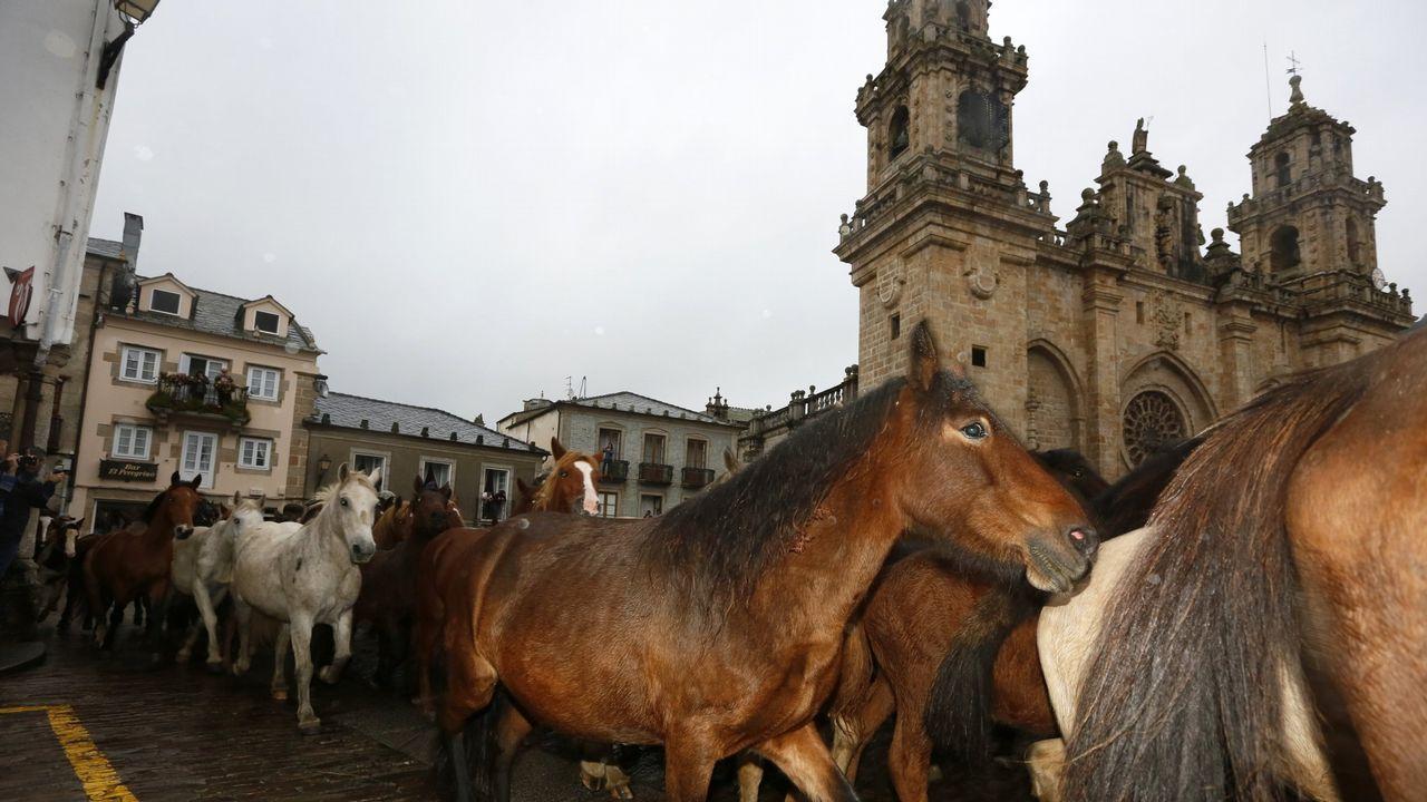 As San Lucas arranca en Mondoñedo con numeroso público pese a la lluvia
