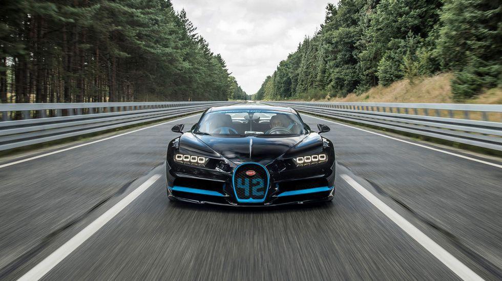 Récord mundial del Bugatti Chiron.Jim Xu, director mundial de Márketing de Huawei