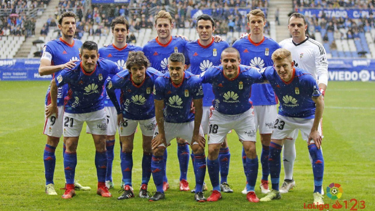 Alineación del Real Oviedo ante el Alcorcón