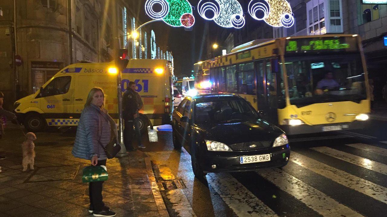 Atropello en la calle Progreso de Ourense