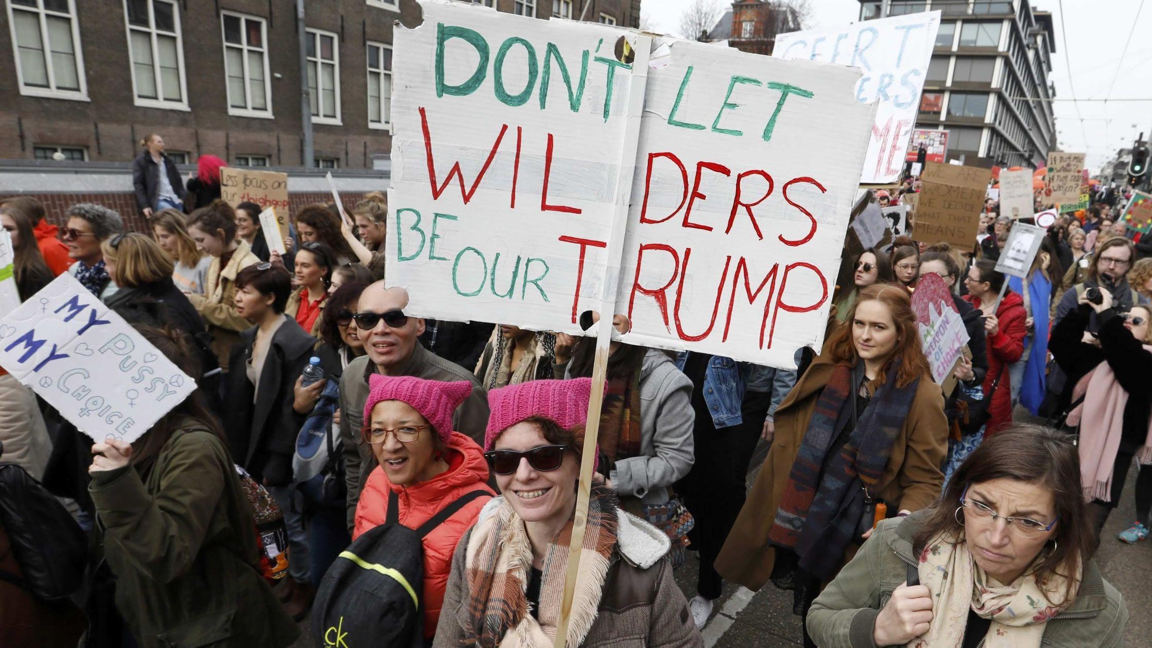 Las elecciones de medio mandato de EE.UU., en imágenes.Manifestación contra el ultra Wilders en Ámsterdam