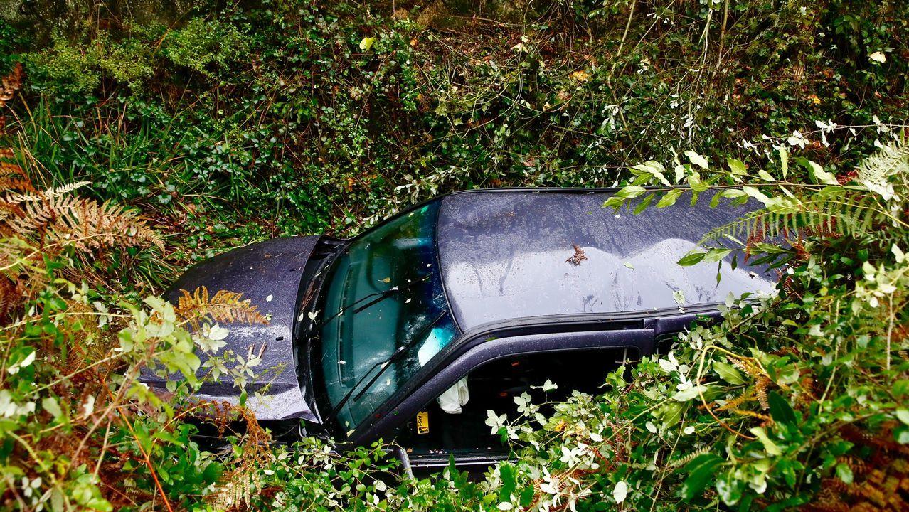 Un coche se despeña en Vigo y acaba en el río.Félix González acude a cursos de sensibilización a conductores