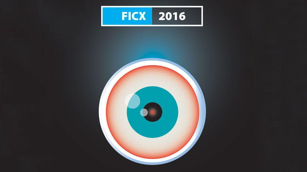Las ocho noches del FICX.Un detalle del cartel de César Sánchez para el Festival Internacional de Cine de Gijón