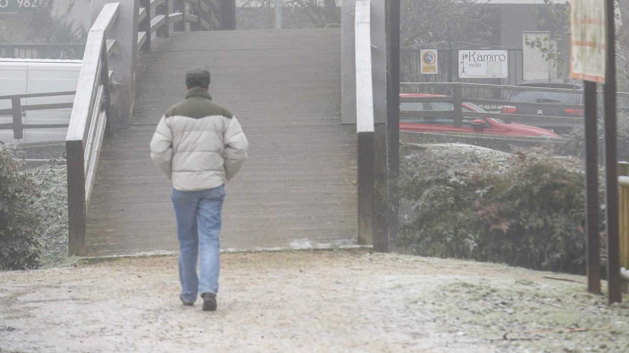 Fuerte helada en Monforte