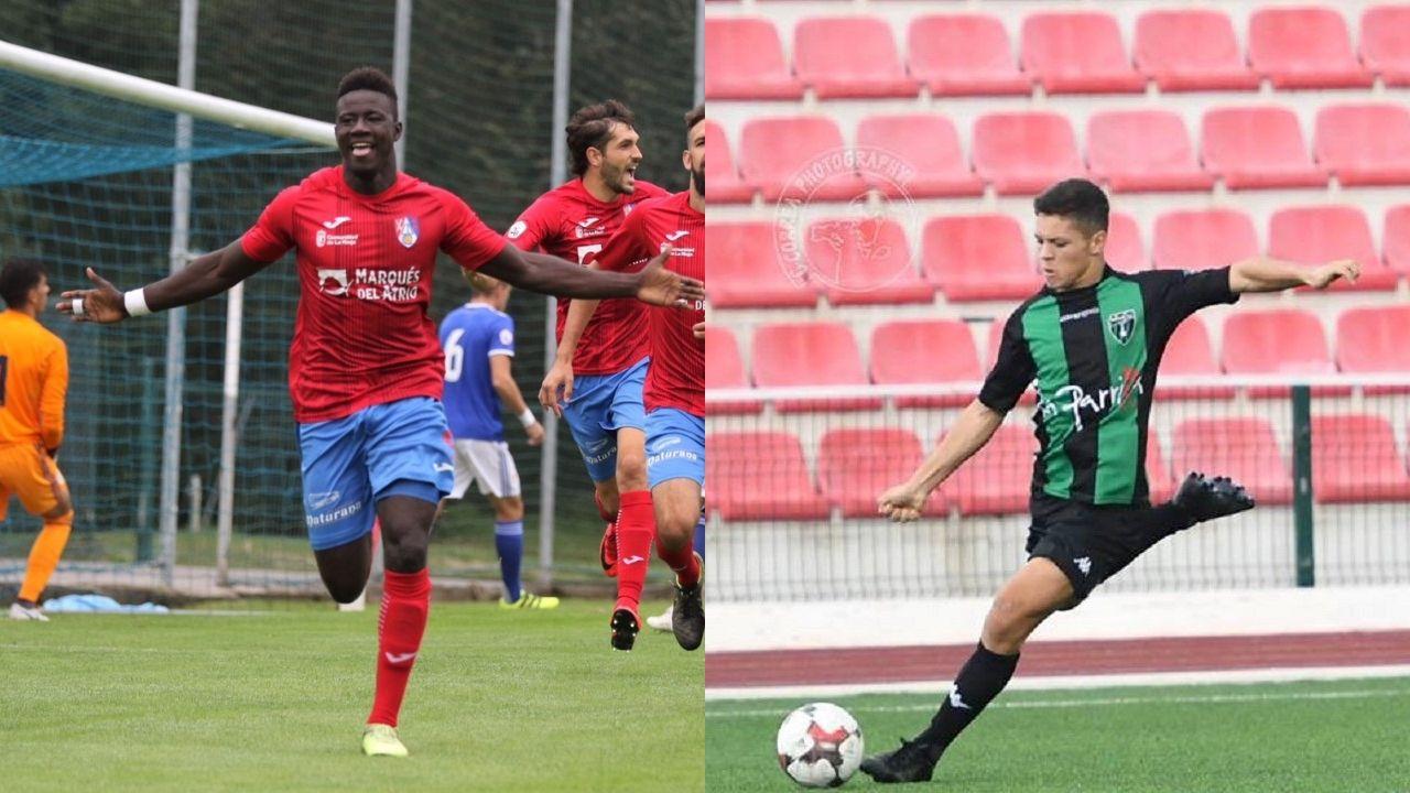 Christian Fernandez Real Oviedo Albacete Carlos Tartiere.Samuel Obeng, a la izquierda, y Tjay de Barr