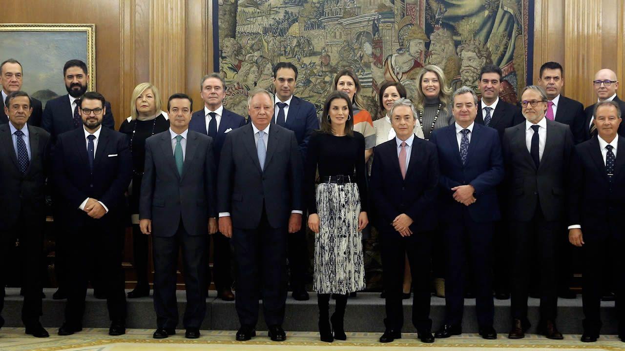 La reina Letizia, durante una audiencia en el Palacio de La Zarzuela
