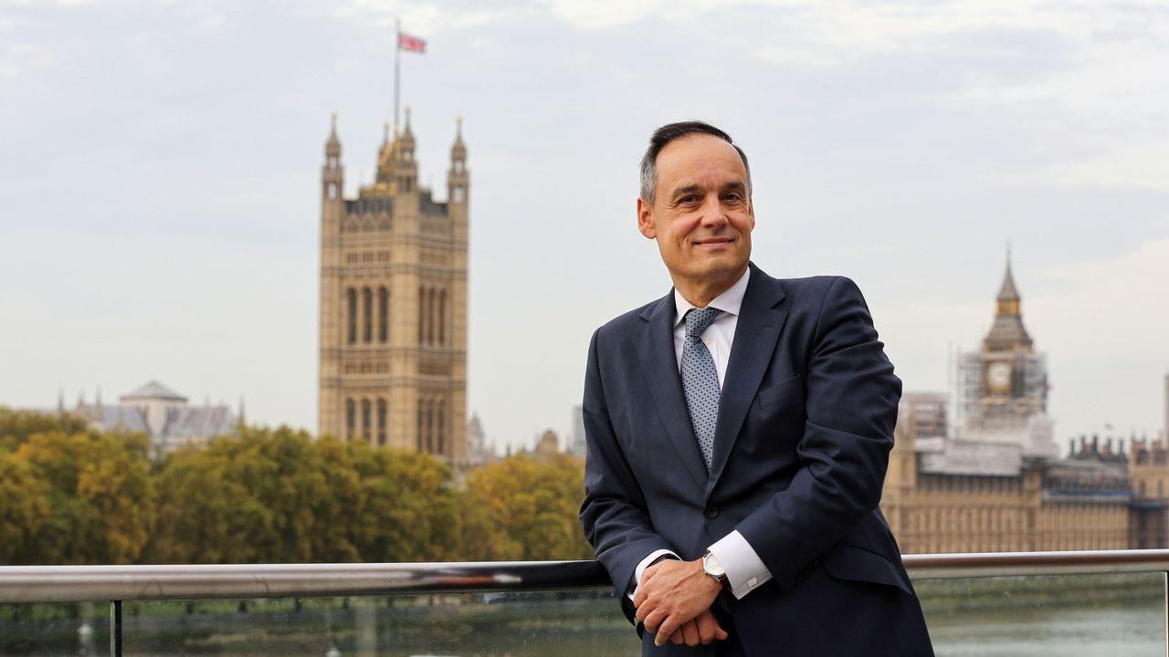 José Maura, en la sede del Fidac en Londres, a orillas del Támesis