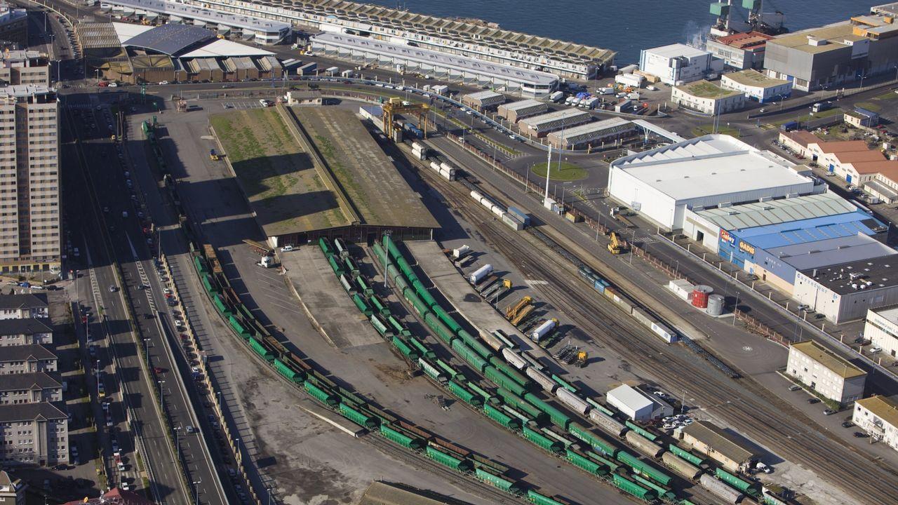 Oficina de empleo.Terminal ferroviaria de mercancías del puerto de A Coruña