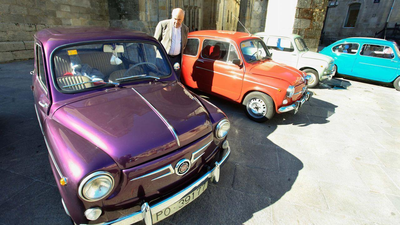 .Concentración de SEAT 600 en Lugo enel 2016.