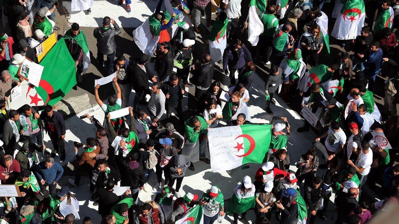 Protestas Argelia.Las manifestaciones han continuado a pesar de la renuncia de Buteflika a presentarse a un quinto mandato