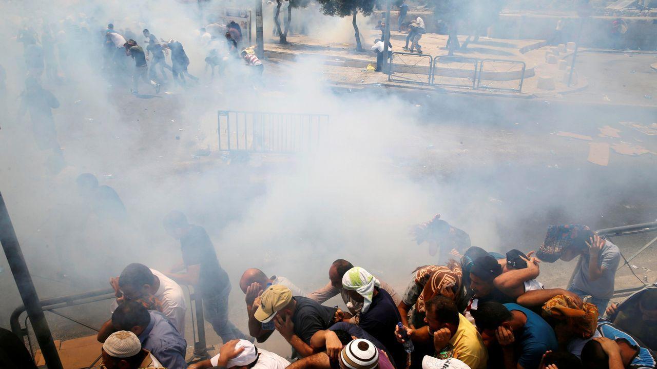 Disturbios en el exterior de la Ciudad Vieja de Jerusalén