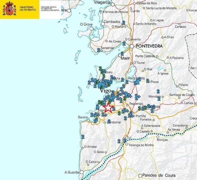 El mapa del Instituto Geológico Nacional refleja la incidencia del temblor.