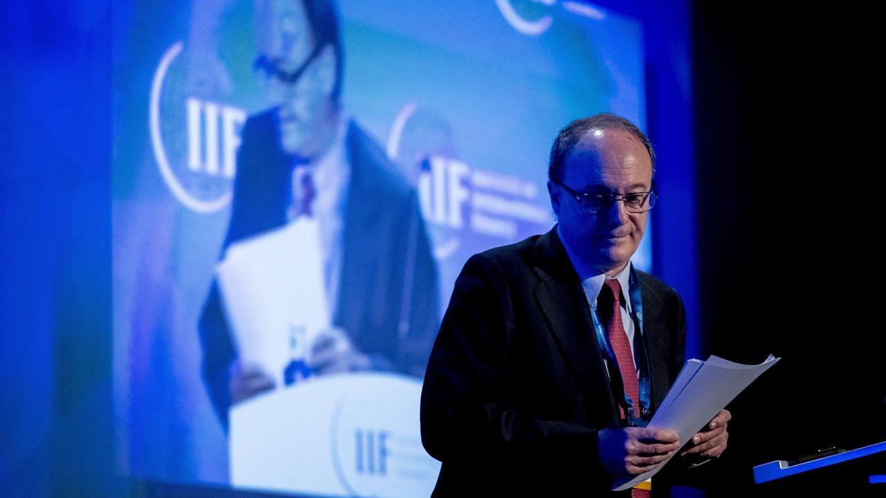 .El gobernador del Banco de España, Luís María Linde