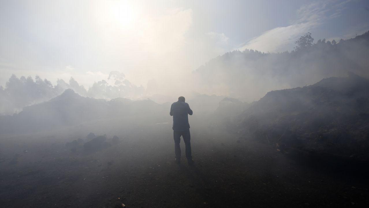 Vigo se dibuja en negro tras la oleada de incendios
