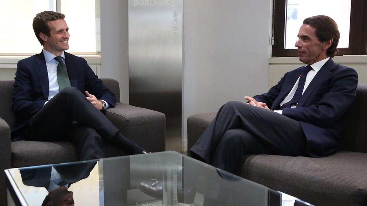 Javier Fernández y Pedro Sánchez en una visita a Valnalón