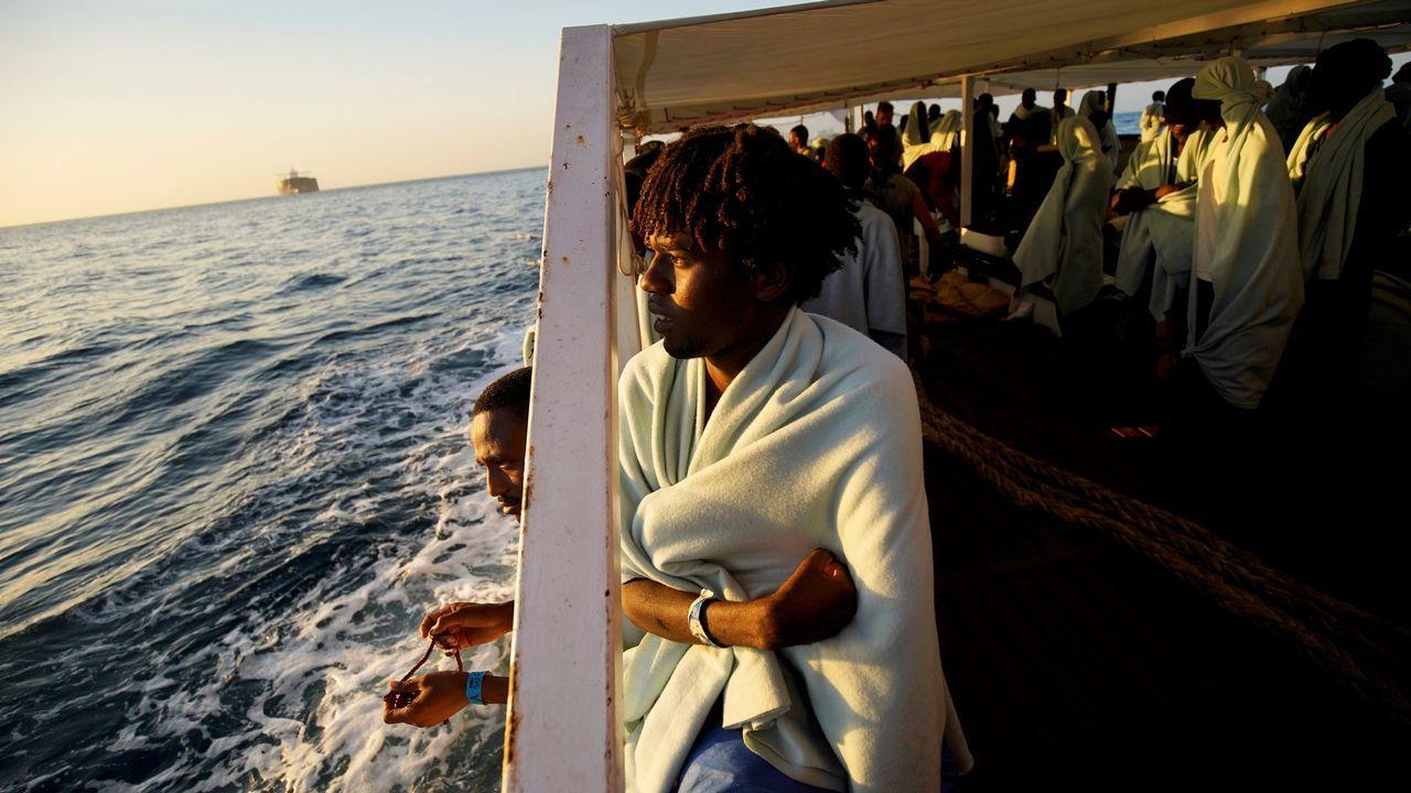 .Entre los 87 migrantes, hay 12 menores