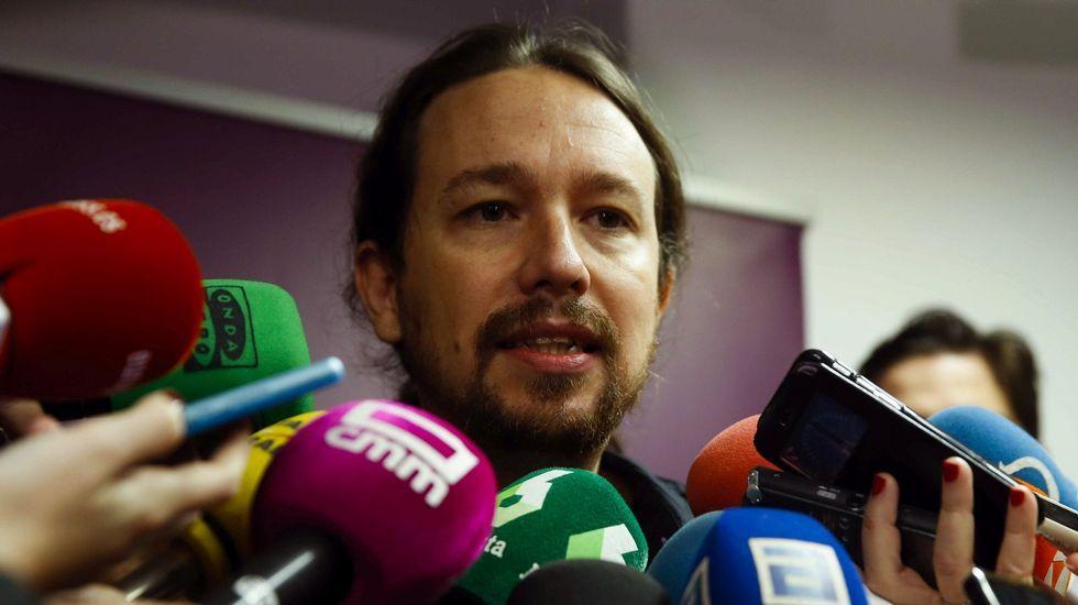 Pablo Iglesias amenaza con marcharse si sus tesis pierden en Vistalegre.Echenique en un acto junto a Teresa Rodríguez en Córdoba