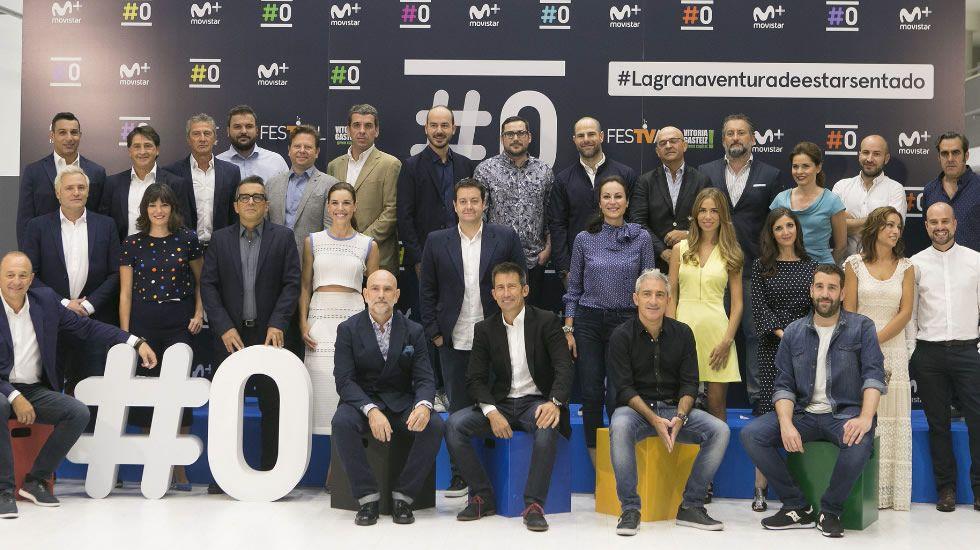 Imagen del equipo de #0 durante el festival de Vitoria