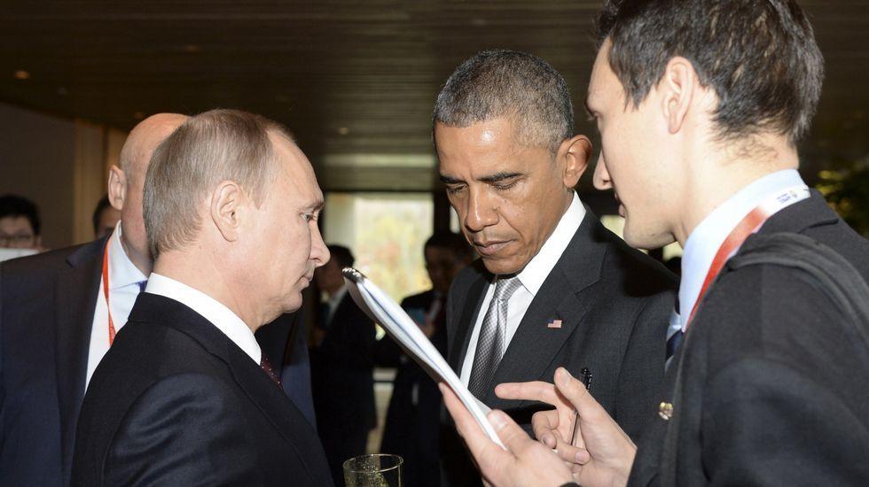.Putin y Obama en un encuentro en el 2014.