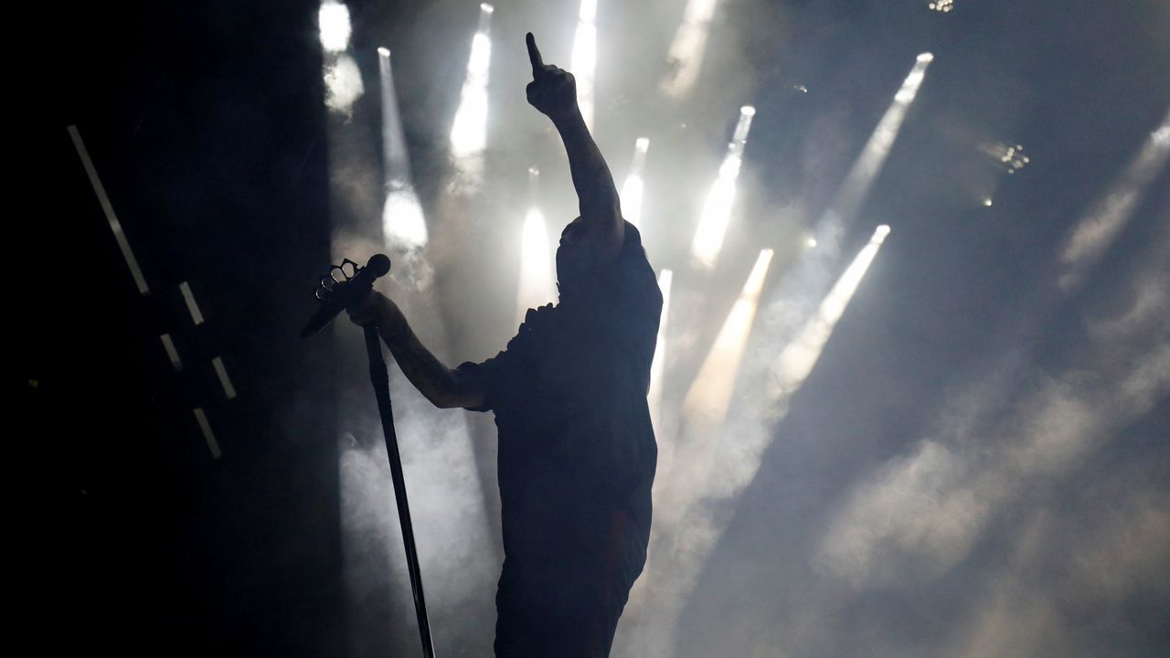 The Killersarrasó en el Monte do Gozo.Marilyn Manson en concierto en Portugal