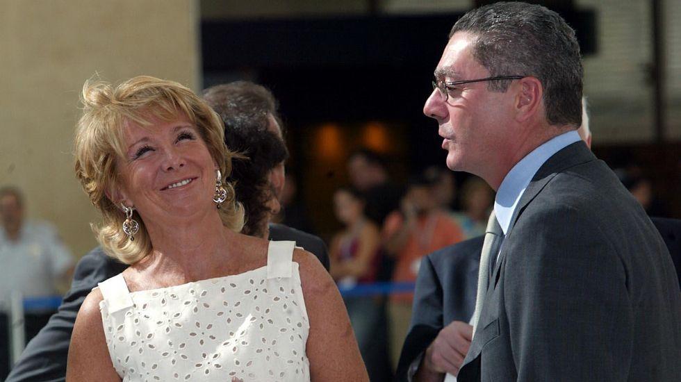 Aguirre y Gallardón, cuando ambos gobernaban Madrid.