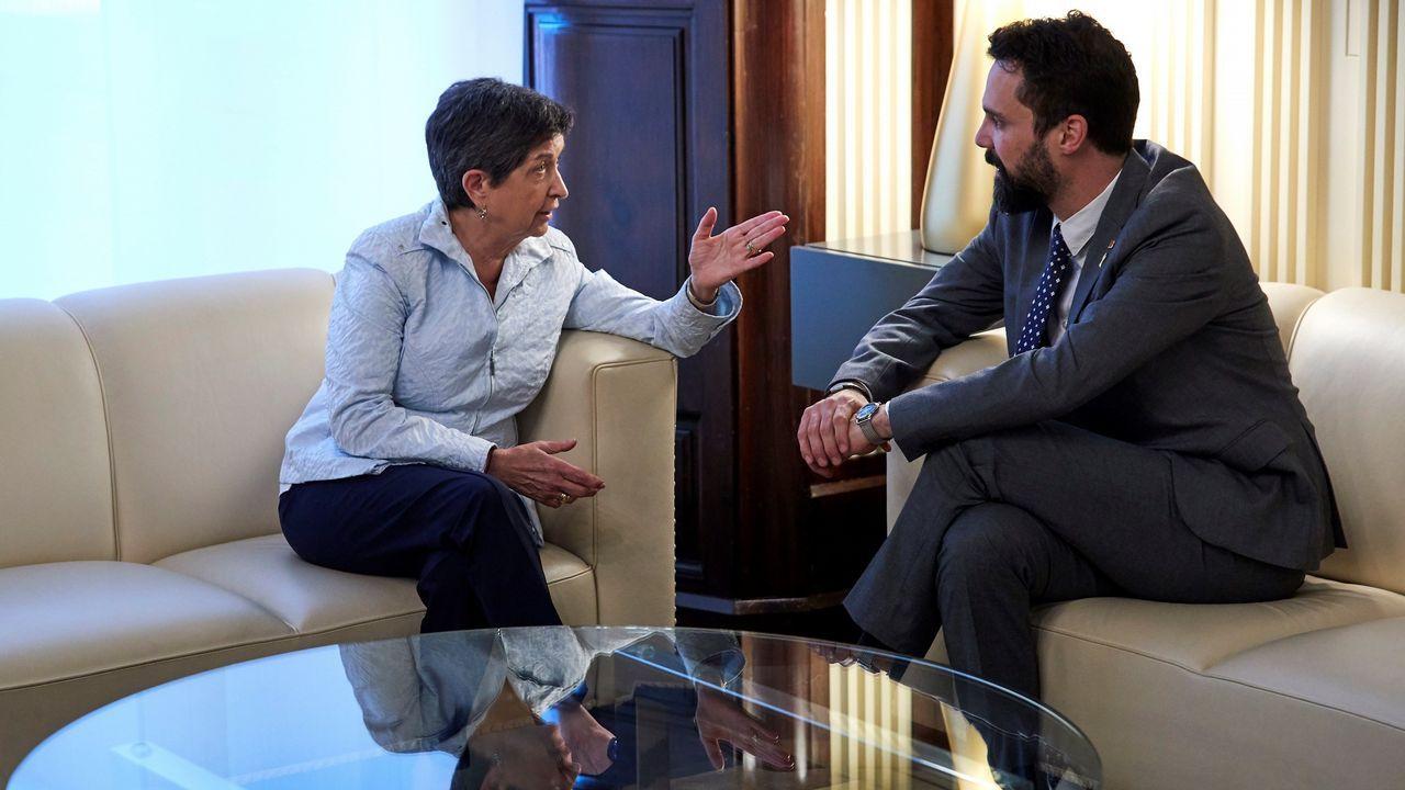 El Congreso aprueba el nombramiento de Rosa María Mateo como administradora para RTVE.La reina Letizia participa en la inauguración de los Cursos de Verano de la Fundación Princesa