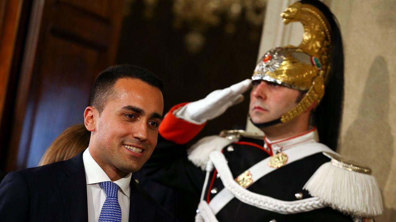 .El populista Di Maio en el Palacio del Quirinal