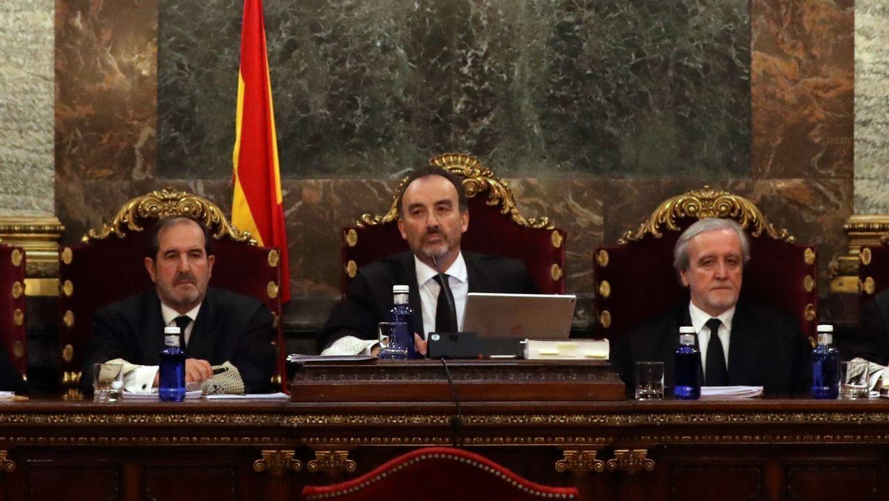 Lucha contra el fuego en Rianxo.Pablo Iglesias
