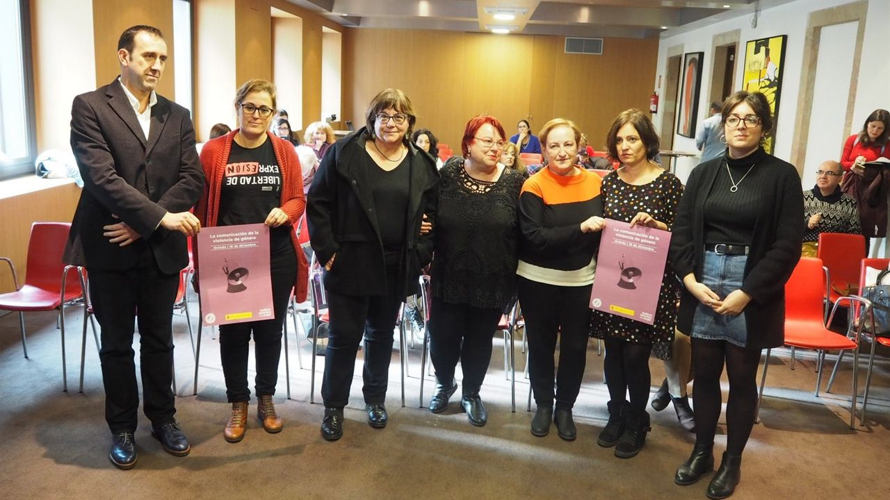 FLORIAN WIESER / EFE.Organizadores de las jornadas sobre la 'Comunicación de la violencia de género'