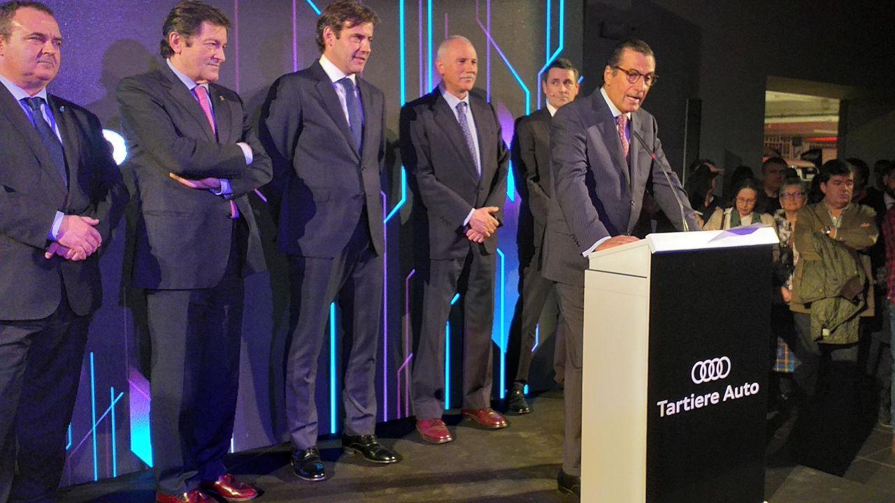Víctor Tartiere, presidente de Tartiere Auto en un momento de la presentación de las nuevas instalaciones