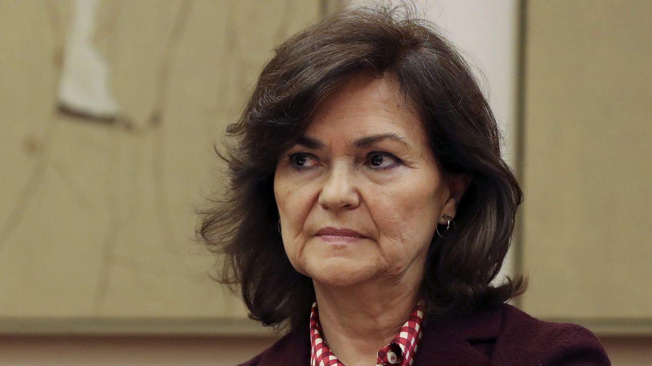 La ministra Carmen Calvo, ayer en el Vaticano