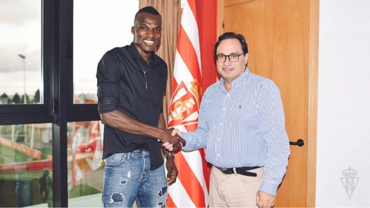 Isac Cofie, nuevo jugador del Sporting
