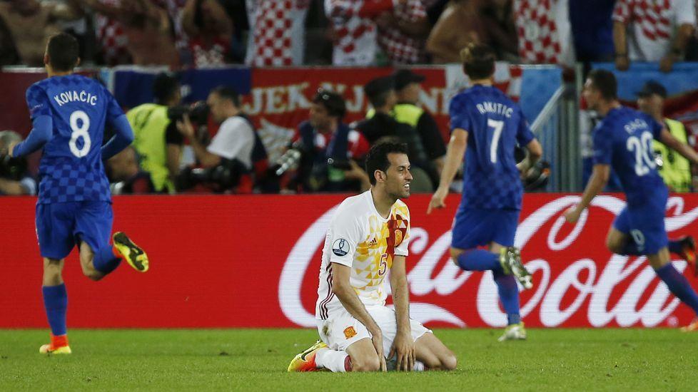 El España-Croacia, en fotos.