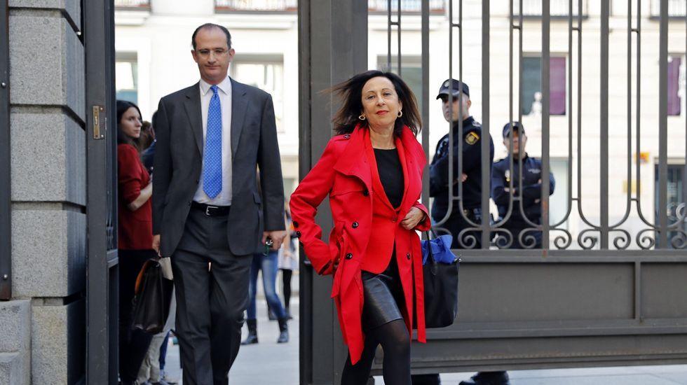 La diputada del grupo socialista Margarita Robles a su llegada al Congreso