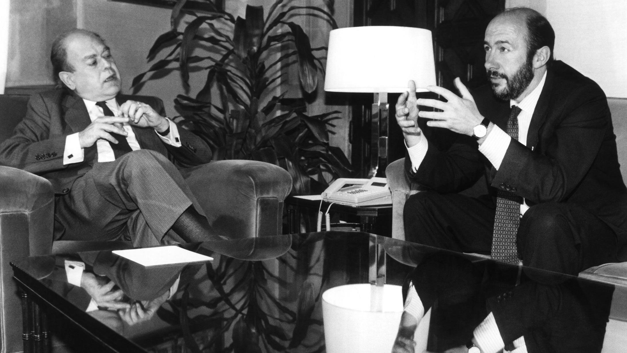En 1992 como ministro de Educación y Deportes con Jordi Pujol en una reunión previa a la celebración de los Juegos Olímpicos de Barcelona