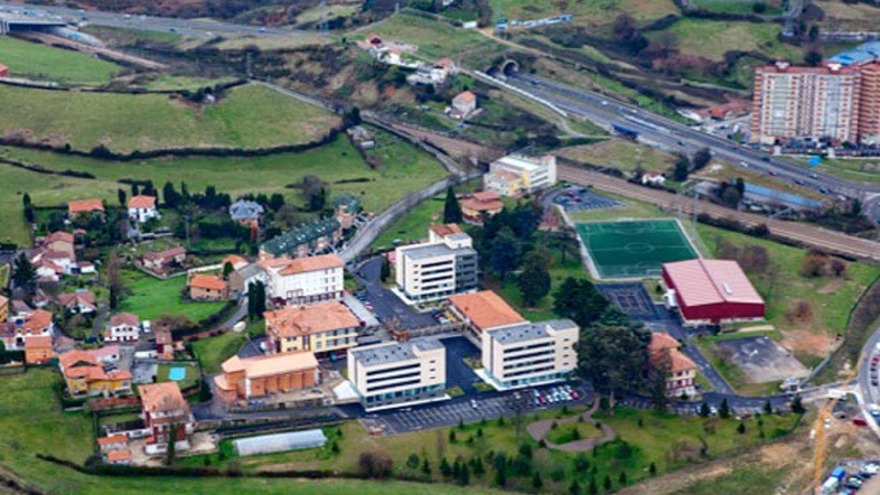 Vista aérea de las instalaciones de FUNDOMA en Oviedo