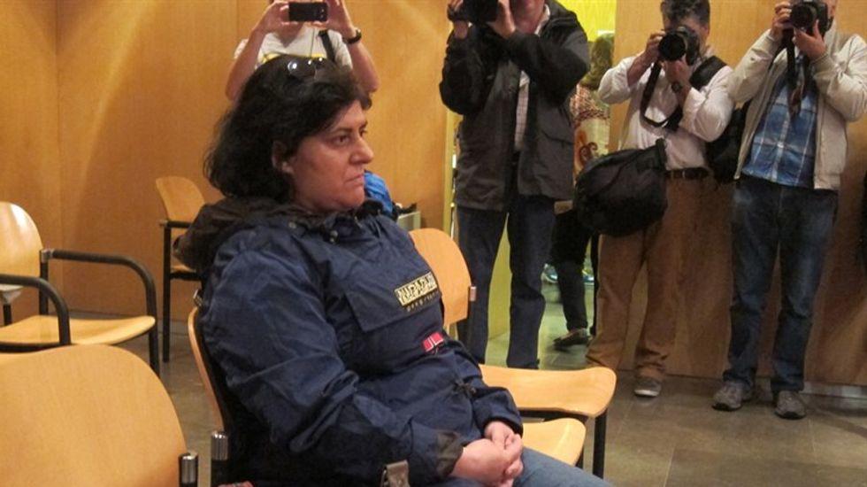 La mujer acusada del abandono de sus tres hijas en Oviedo, en un momento del juicio