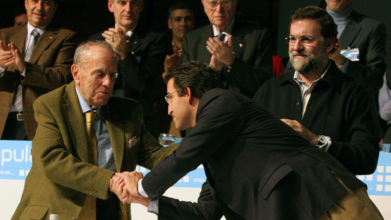 Fraga, Núñez Feijoo y Rajoy