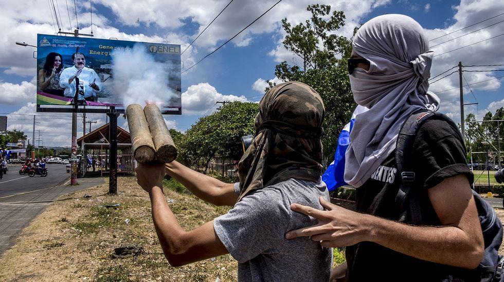 Valeska Valle, miembro del la Alianza Civil, un partido abierta en contra de la política de Daniel Ortega