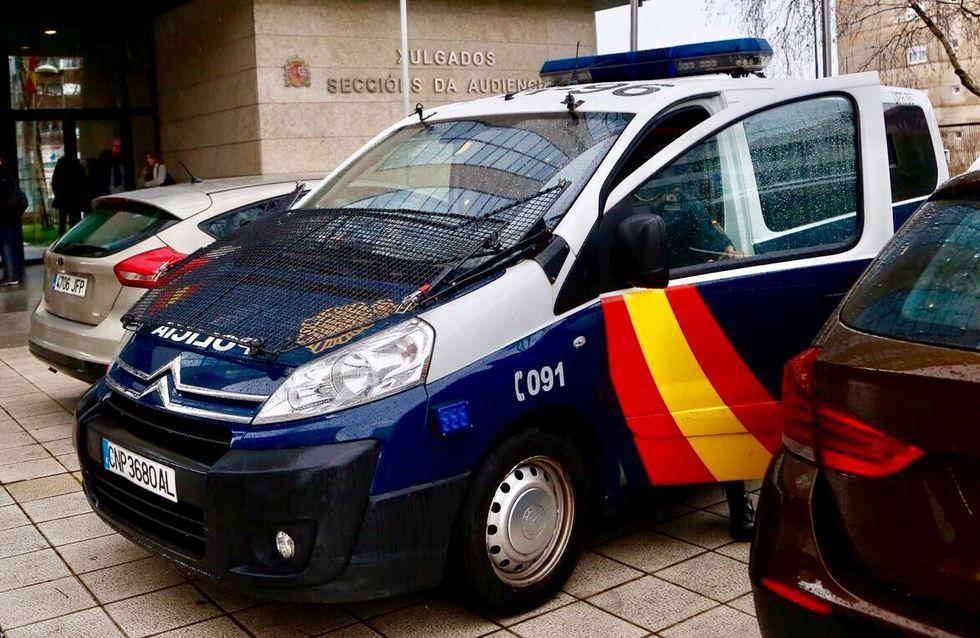 Así fueron las detenciones de los narcos de Pontevedra.Foto de archivo de una patrulla de la Policía Nacional