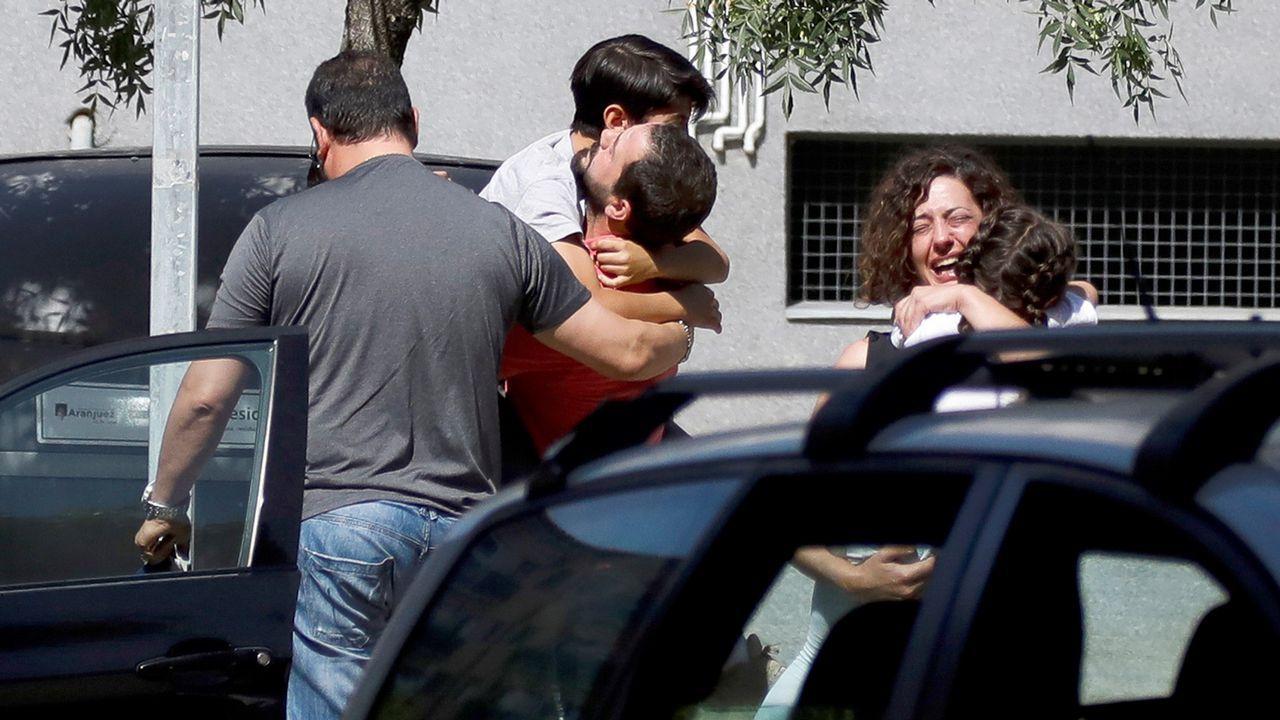 Familiares de las víctimas del tiroteo en Aranjuez