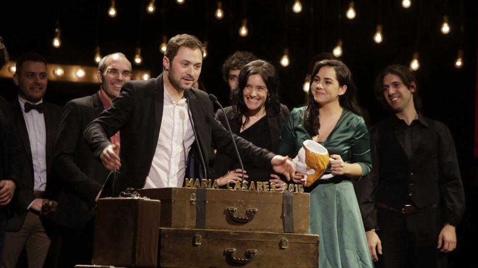 La gala de los premios María Casares, en imágenes....Caramuxo Teatro en Chapela