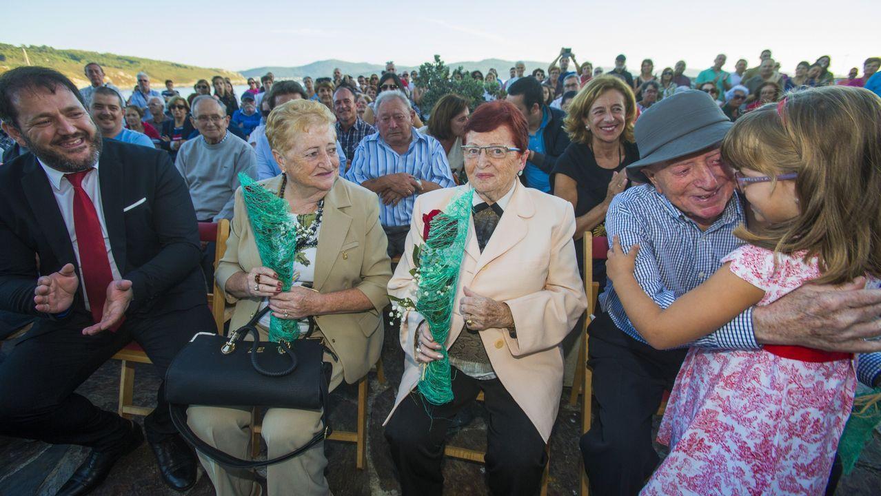 Emotivo homenaje en Corme a los vecinos que murieron en Guernica.Eulogio López Masid