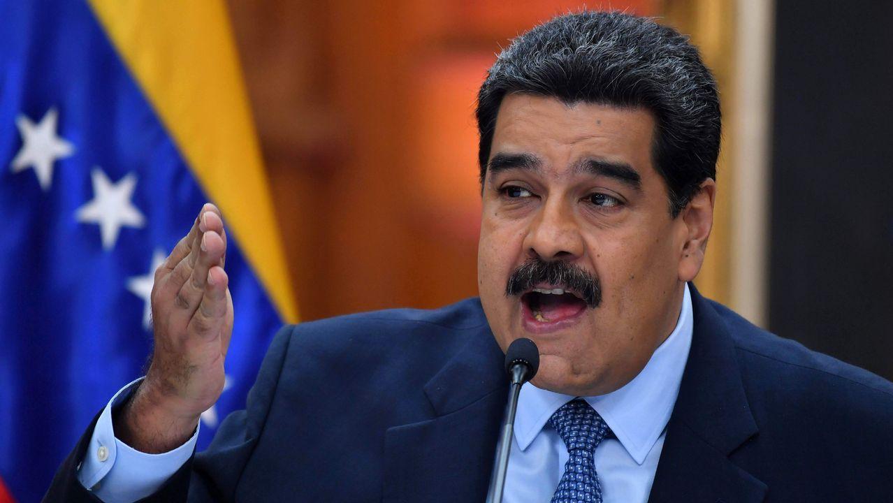 Maduro, durante una rueda de prensa celebrada antes de su jura