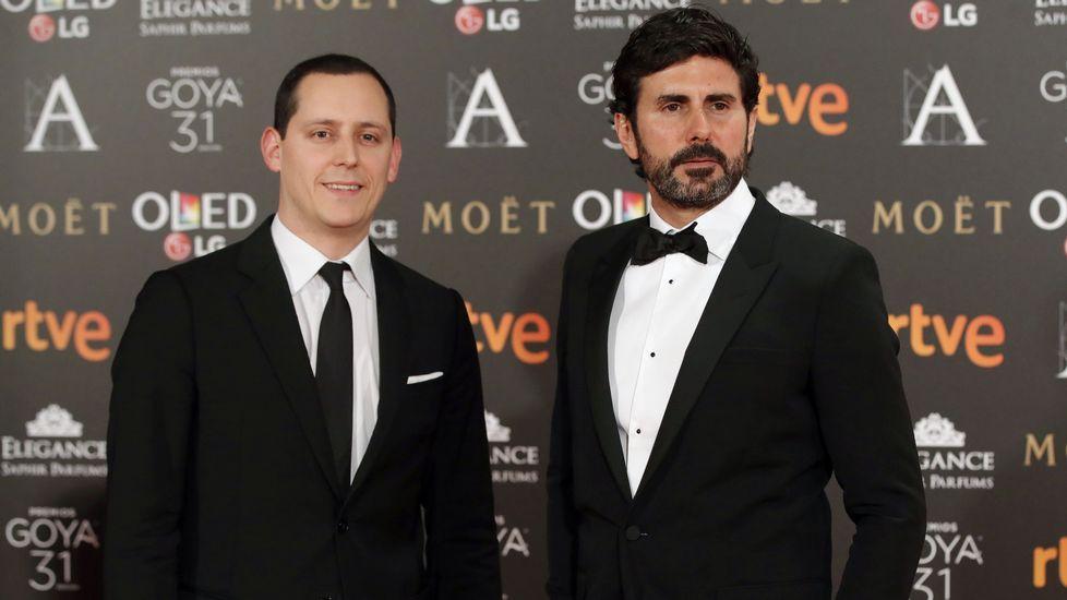 Los realizadores Olmo Figueredo (i) y Hernán Zin, candidatos al mejor documental por «Nacido en Siria»