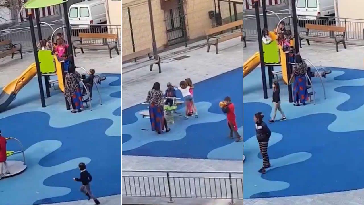 Un cura le pega una patada a una chica en la catedral de La Plata