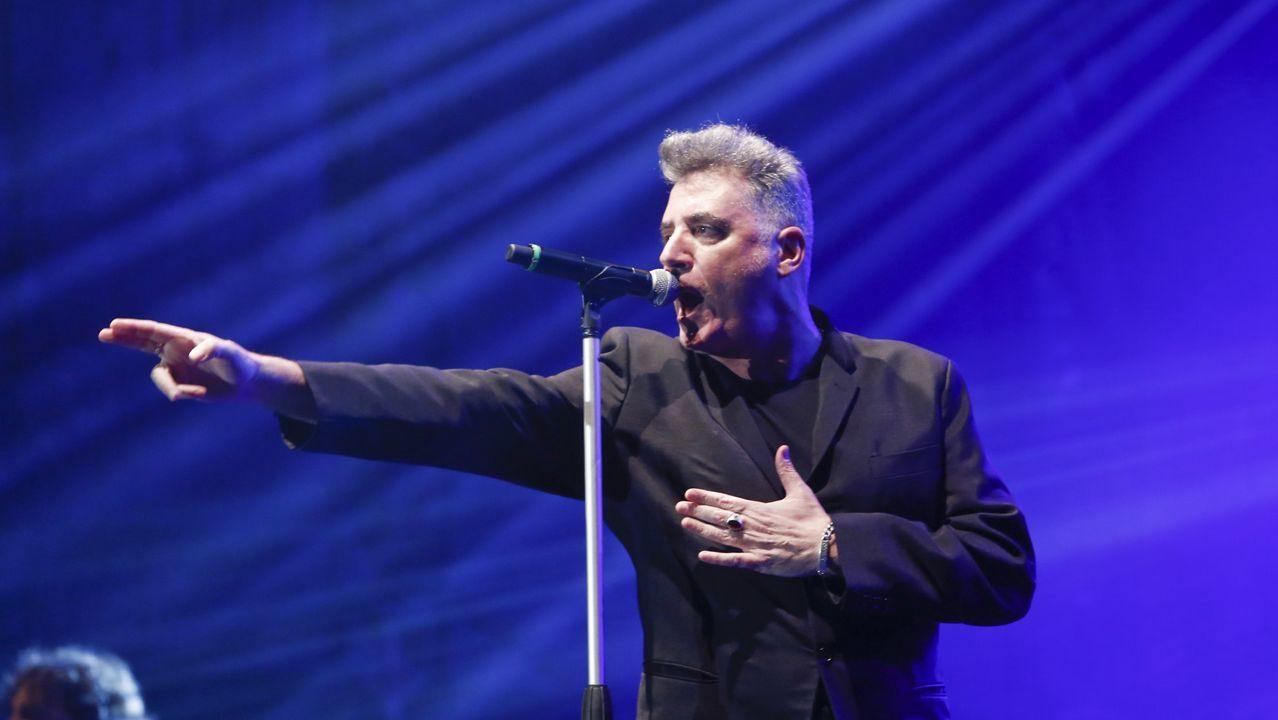 Loquillo, en una imagen de archivo, durante una actuación en Lugo