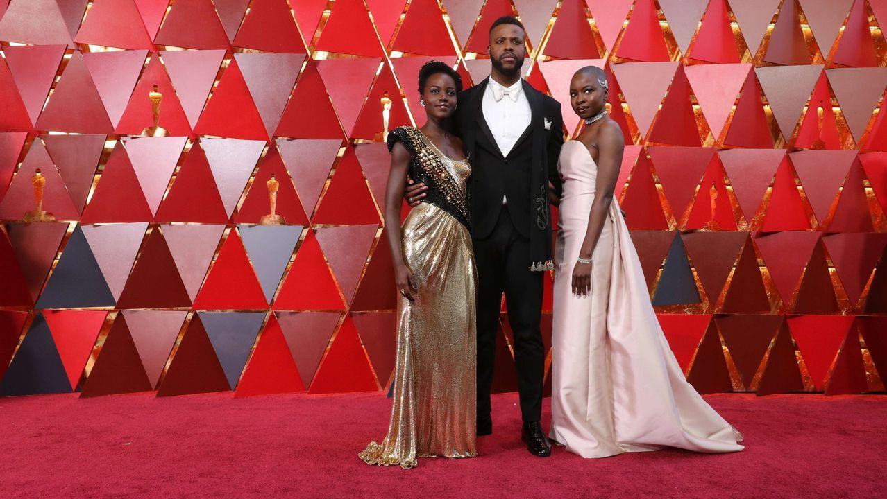 .Lupita Nyong'o, Winston Duke y Danai Gurira