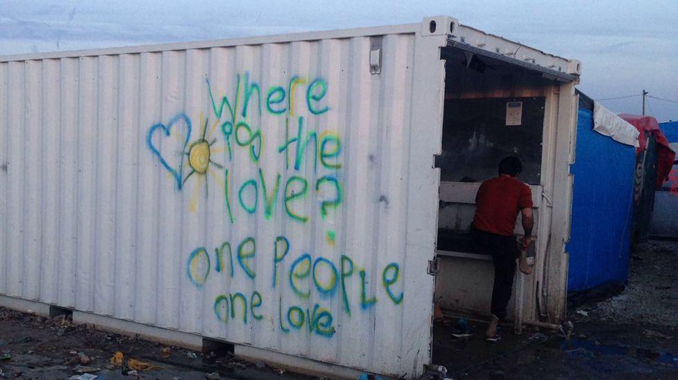 Campo de refugiados de Calais.